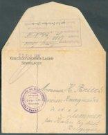 Enveloppe (griffe 'Kriegsgefangenen-Lager Sennelager 29 Sept. 1917') Envoyée Par Un Prisonnier (verso : Griffe Violette - WW I