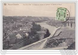 Namur - Citadelle.- Vue De La Ville  - La Hampe Du Drapeau Et Confluent De Sambre Et  Meuse - Namur