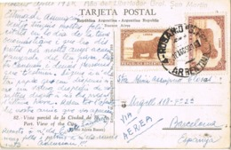 34672. Postal Aerea ROSARIO (Argentina) 1950. Vista Parcial Buenos Aires Y LUNA PARK - Argentina