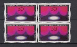 Bund 896 4er Block 100 Jahre Bayreuther Festspiele 50 Pf Postfrisch - BRD