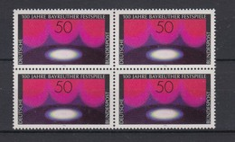 Bund 896 4er Block 100 Jahre Bayreuther Festspiele 50 Pf Postfrisch - [7] République Fédérale
