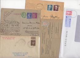 10 Lettres Er Cartes + 1 Cadeau Prix De Départ Sans Réserve 1€ Voir 2 Scan.  Bonnes Enchère              Lot Delc N°2 - 1921-1960: Période Moderne