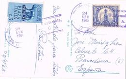 34673. Postal Aerea GUATEMALA 1962. Franqueo Mixto Italia Y Guatemala. RARO - Guatemala