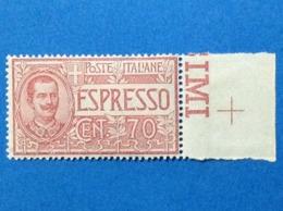 1925 1926 ITALIA REGNO FRANCOBOLLO NUOVO STAMP NEW MNH** ESPRESSO 70 CENT - 1900-44 Victor Emmanuel III.