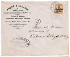 OC 15 VISE Censuurbrief 1917 CTR Militarische Uberwachungsstelle Luttich Andre Lagasse Haccourt Ciment Platre Paves - WW I