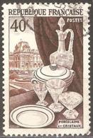 France - 1954 - Porcelaine, Cristaux Et Le Louvre - YT 972 Oblitéré - Frankreich