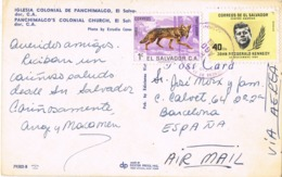 34674. Postal Aerea SAN SALVADOR (El Salvador) 1964. Iglesia Colonial PANCHIMALCO - El Salvador