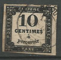 TIMBRE TAXE 1859 - N ° 2  Oblitere - Taxes