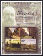 Guyana,Claude Monet,paintings, 2 S/s,MNH - Guyana (1966-...)