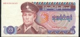 MYANMAR P63 35 KYATS 1986  #HD   UNC. - Myanmar