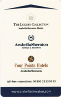 GERMANIA  KEY HOTEL      Arabella Sheraton Hotels 00 800 32 53 53 53 - Eurocard - Hotelkarten