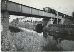 Klagenfurt ÖBB Electric Train Trein Spoorweg Railway Eisenbahn Brücke Landkanal 1960's - Klagenfurt