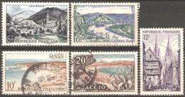 France - 1954 - Série Touristique - YT 976, 977, 978, 979 Et 981 Oblitérés - Francia