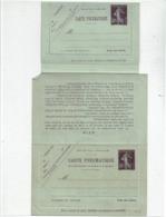 LCTN58/PM1 -  CLRP PNEUMATIQUE SEMEUSE CAMEE 30c+30c S&F K8 NEUVE - Postal Stamped Stationery