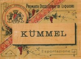 Kummel, Premiata Distilleria Di Liquori - Etiketten