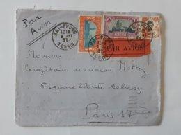 Devant De Lettre Envoyée Par Avion De Hai - Phong Tonkin - Indochine - Cochinchine - Cachets Divers ... Lot40 - Indochina (1889-1945)