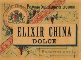 Elixir China Dolce, Premiata Distilleria Di Liquori - Etiketten