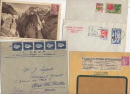 10 Lettres Et Cartes + 1 Cadeau Prix De Départ Sans Réserve 1€ Voir 2 Scan.  Bonnes Enchère              Lot Delc N°9 - Marcophilie (Lettres)
