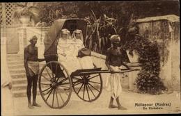 Cp Mylapore Meliapur Chennai Madras Indien, En Rickshaw, Les Franciscaines Missionnaires - Inde