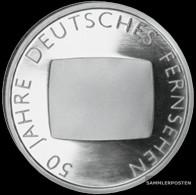 FRD (FR.Germany) Jägernr: 496 2002 G Stgl./unzirkuliert Silver 2002 10 Euro 50 Years German Fernsehe - Germany