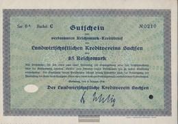 German Empire 85 Reichsmark, Gutschein Druckfrisch 1930 Landwirts. Kreditverein Saxony - 1918-1933: Weimarer Republik