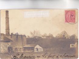CPA PHOTO - 71 - SAINT-MAURICE-les-CHATEAUNEUF - LE FOUR A CHAUX - CARTE PHOTO RARE 1905 - - Autres Communes