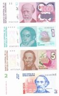 Argentina. Set, Set Of Banknotes. 1, 2, 5, 1000. Narrow. UNC - Argentine