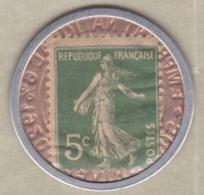 Timbre Monnaie Crédit Lyonnais 1920. 5 Centimes Semeuse. - Pubblicitari
