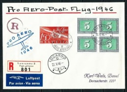 Suiza Nº A-40 Y 405[4] (S) Aéreo Certificado - Airmail