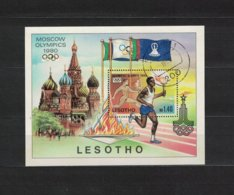LESOTHO , 1980 , Oo , Used , Gestempelt ,  Mi.Nr. Block 5 - Lesotho (1966-...)