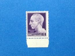1945 ITALIA LUOGOTENENZA FRANCOBOLLO NUOVO STAMP NEW MNH** IMPERIALE SENZA FASCI 1 LIRE FILIGRANA CORONE - Nuovi