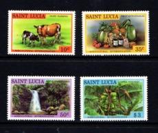 SAINT  LUCIA    1979    Agriculture  Diversification  Set  Of  4    MNH - St.Lucia (1979-...)