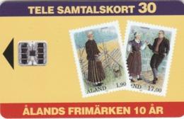Aland, AX-ALP-0009, Stamps Of Åland, 2 Scans.   Schlumberger - SC7 - Aland