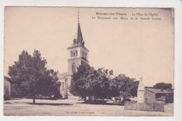 27194 Moussac Sur Vienne 86 Place De L'église Monument Aux Morts Grande Guerre - Ed Giraud, Isle Jourdain - France