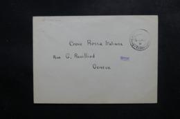 ITALIE - Enveloppe D' Interné En Suisse Pour La Croix Rouge Italienne - L 47544 - 1900-44 Vittorio Emanuele III