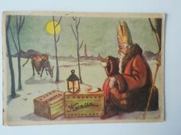 1950 CP Saint Nicolas Pub Chocolat Kwatta âne Sinterklaas Sint-Niklaus - Saint-Nicolas