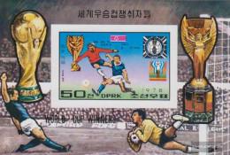 North-Korea Block50B (complete Issue) Unmounted Mint / Never Hinged 1978 Winners Football-WM - Korea, North