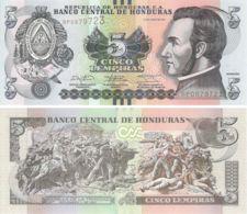Honduras. Banknote. 5 Lempiras. Trinidadian Fight. UNC. 2014 - Honduras