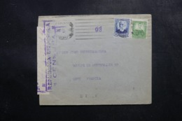 ESPAGNE - Enveloppe De Barcelone Pour La France En 1937 Avec Contrôle Postal - L 47546 - Bolli Di Censura Repubblicana