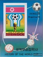 North-Korea Block49B (complete Issue) Unmounted Mint / Never Hinged 1978 History The Football-WM - Korea, North