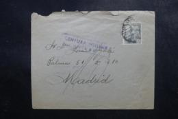 ESPAGNE - Enveloppe Pour Madrid En 1941 Avec Contrôle Postal - L 47547 - Marques De Censures Nationalistes