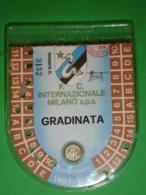INTER CALCIO TESSERA ABBONAMENTO GRADINATE 1981-1982 MILANO INTERNAZIONALE Campionato - Autres Collections