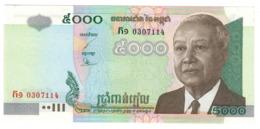 CAMBODIA5000RIELS2001P55UNC.CV. - Cambogia