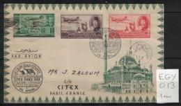 France - Egypte - Enveloppe D'Egypte à Paris CITEX 1949 Avec Yvert 18 Des Vignettes D'Expo. Phil. Int. Françaises - Poste Aérienne