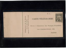 """LCTN58/PM1 - CHAPLAIN CARTE PNEUMATIQUE DE SERVICE """"LE DIRECTEUR DES POMPES FUNEBRES"""" S&F B12 NEUVE CERTIFICAT FOURCAUT - Pneumatic Post"""