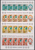 Soccer World Cup 1982 - SIERRA LEONE - Set Of 4 Sheets MNH - Fußball-Weltmeisterschaft