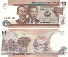 Philippines. Banknote. 10 Piso. 2001. UNC - Philippines