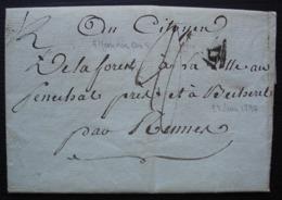 5 Messidor L'an 5 Lettre Pour Le Citoyen Delaforest à La Villeausénéchal Près Et à Becherel Par Rennes - 1701-1800: Precursori XVIII