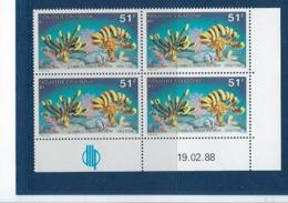 "Nle-Caledonie Coins Datés YT 557 "" Faune Marine "" Neuf** Du 19.2.1988 - Neukaledonien"