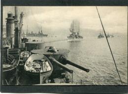 CPA - MARINE MILITAIRE - Service En Escadre - Navigation En Ligne De File, Un Virage - Krieg